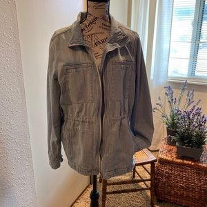 Gap striped Denim Jacket Size Large